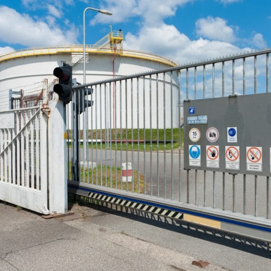 How a Commercial Gate is a Visual Deterrent for Crime